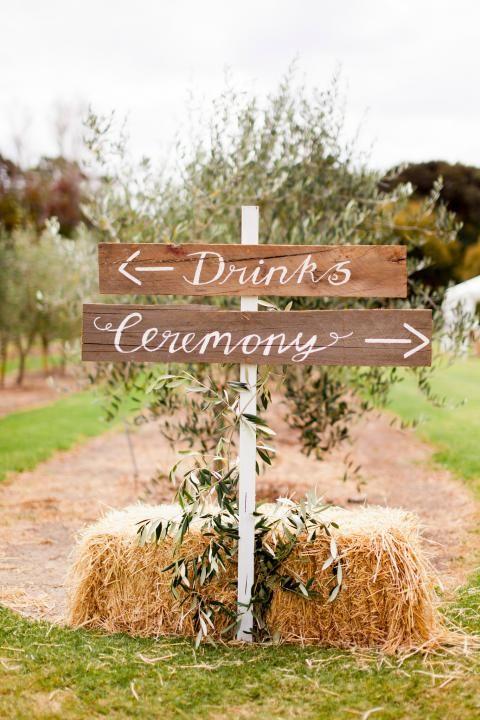 Ceremony Signage / Kara & Jeff's Organic Country Wedding / Wedding Style Inspiration / LANE