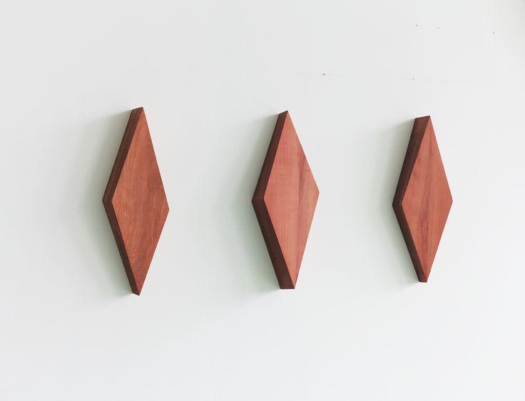 Henrik Eiben - BIG ELIE - 2015 - Chequer and pear wood - each 50 x 18 x 9 cm, installation 50 x 105 x 9 cm