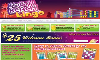 "SOUTH BEACH bingo welcomed us with her warm colours and entertaining brand font on her  main page and before starting our review, has achieved to warm up our soul as if we were in the ""South Beach"" which fully matched her name. South Beach Bingo be ..."