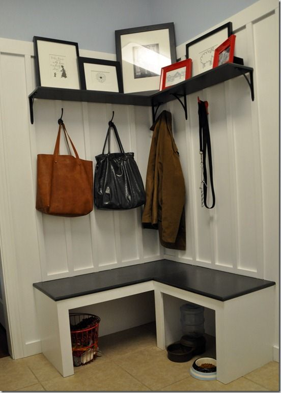 27 Best Small Corner Mudroom Images On Pinterest Laundry Rooms Mud Rooms And Entrance Hall