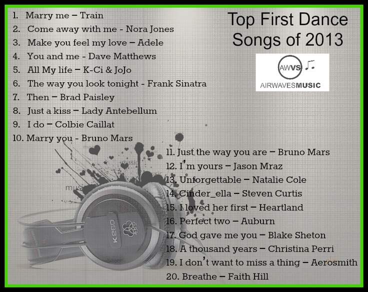 Top First Dance Songs Of 2013