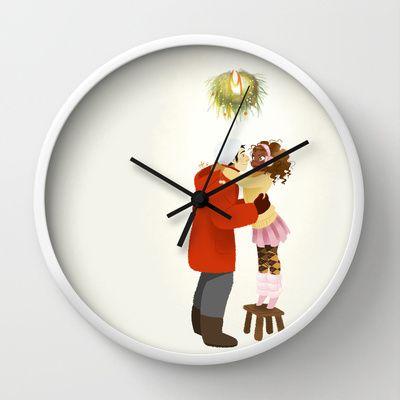 Xmas  Wall Clock by Martina Zambelli