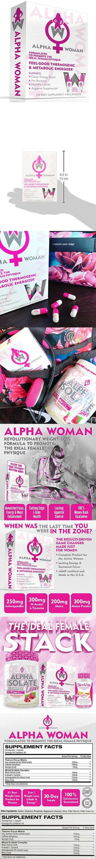 ALPHA WOMAN Fat Burner - Weight Loss Supplement For Women, 4-In-1 Feel Good Ther...