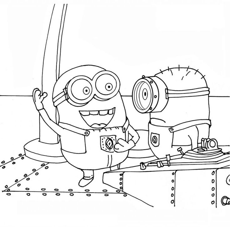 despicable me and minions free printable coloring pages - Despicable Me Coloring Book