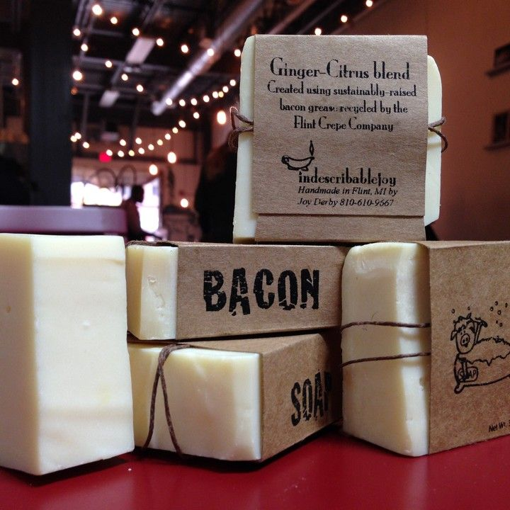 Bacon Soap from Flint Crepe Company for $5.50 on Square Market