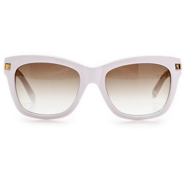 Kate Spade New York Autumn Sunglasses - White Crystal/Brown Gradient found on Polyvore