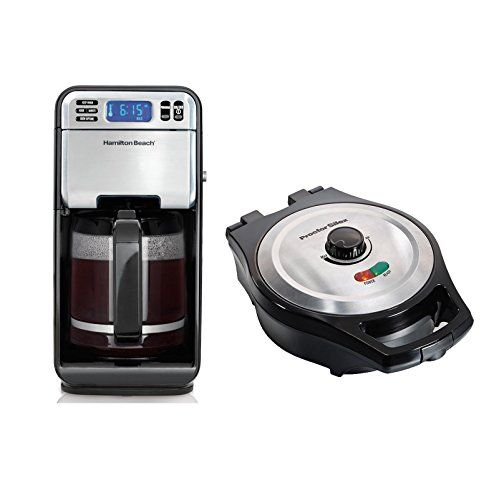 Hamilton Beach 12Cup Coffee Maker  Proctor Silex Belgian Style Waffle Maker *** Details can be found by clicking on the image.