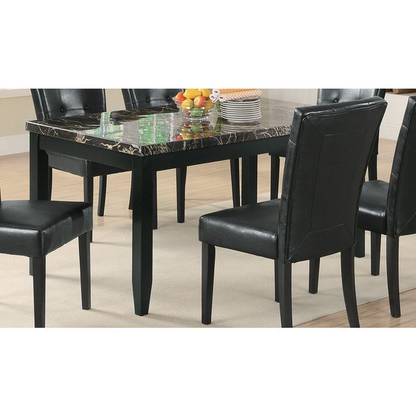 Black Faux Marble Dining Table