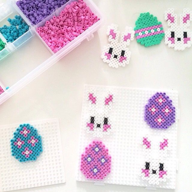 Easter ornaments hama beads by englaskreativeverden