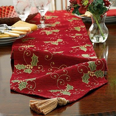 £19.99 Charming Woven Tapestry Table Runner Recalling Mid 19th Century  Floral Textiles.