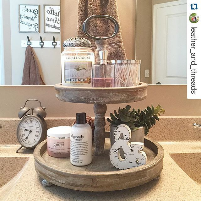 #wehavethebestcustomersonearth #notkidding #paintedfoxfamily #Repost @leather_and_threads ・・・ Sharing my tiered tray this week for #decormeup. Since receiving this tray as a Christmas gift I've had lots of fun styling it various ways. Currently, it's holding some pretty bathroom essentials. @jobestead @jessstayhome Would you ladies like to share when you have a chance?