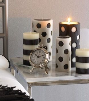 I love these!  Always remember to use battery candles for Home Staging, these I would use in my own home (or not light if used in Staging a room as there safety first)