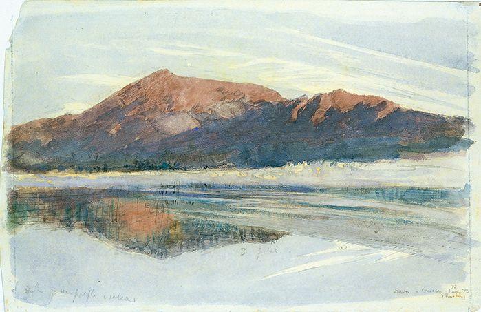 John Ruskin (1819-1900) Dawn, Coniston, 1873, watercolour over pencil on paper 23.2 x 35.7cm Purchased in 1998