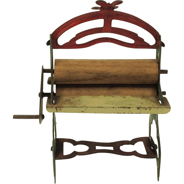 Antique Miniature Holdfast Toy Mangle. Dolls, Wood and Metal. from becks-vintage-treasure on Ruby Lane