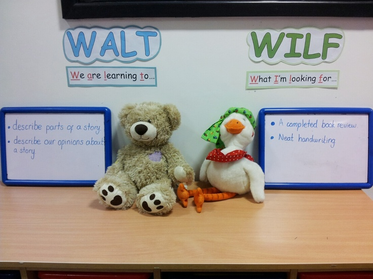 WALT and WILF - use for Learning Goals Success Criteria