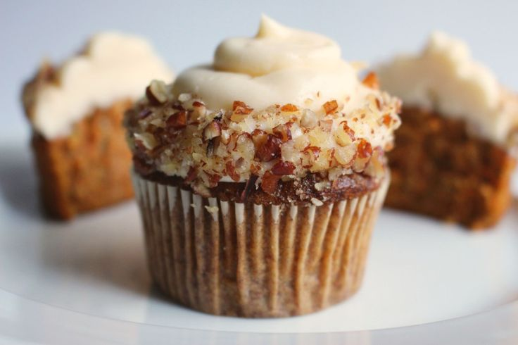 Fluffy Carrot Muffins With Cream Cheese Frosting Recipe — Dishmaps