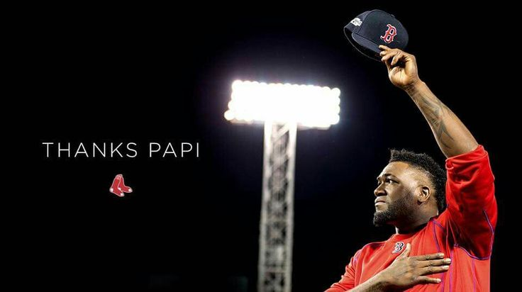 Papi---David Ortiz: One of the greatest baseball players ever who has touched the hearts of Boston Red Sox fans and the people of the  city of Boston. So many wonderful memories to cherish!