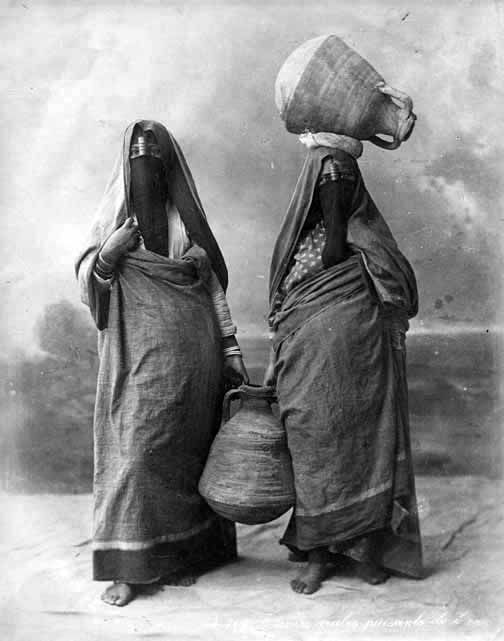 Women carrying water, Egypt, 1880