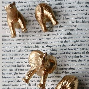Fun animal magnets- I feel like I can make these on my own. Thrift store find cute plastic animals, saw cut in half, spray paint gold, silver, etc and glue a magnet on the cut part. Easy peasy, right?