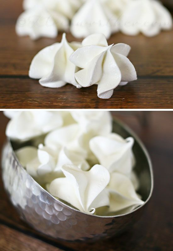 Cake Batter Meringues  | 25 DIY Winter Wedding Ideas on a Budget | DIY Winter Wedding Decorations