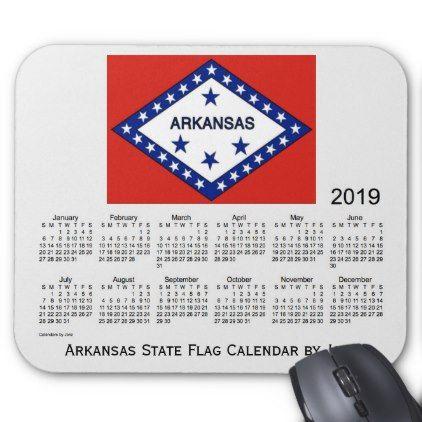 2019 Arkansas State Flag Calendar by Janz Mouse Pad - birthday diy gift present custom ideas