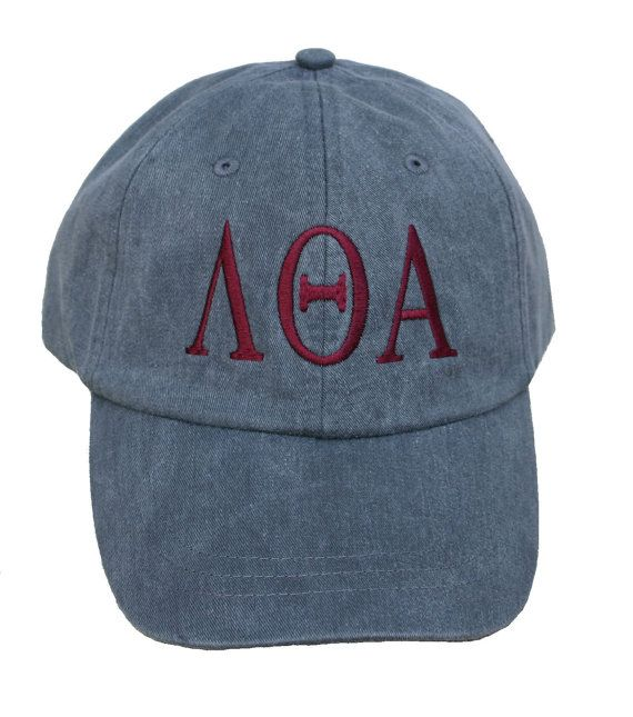 Lambda Theta Alpha baseball cap with embroidered greek by hyunich