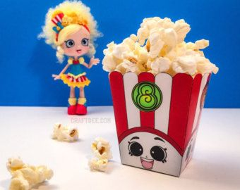 3 poppy corn popcorn box shopkins birthday party by
