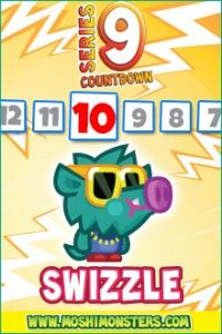 Moshling number 8 of the new Moshi Monsters Series 9 is here, unveiled here exclusively. Do you like it?  Name and Species  Swizzle the Swaggering Swine  Personality: Affected, preposterous, boastful.