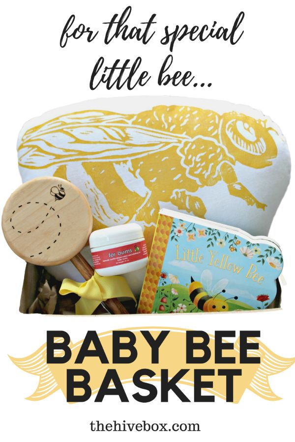 """The Hive Box - The Baby Bee Basket is a unique and special gift for anyone expecting a new """"baby bee""""!"""