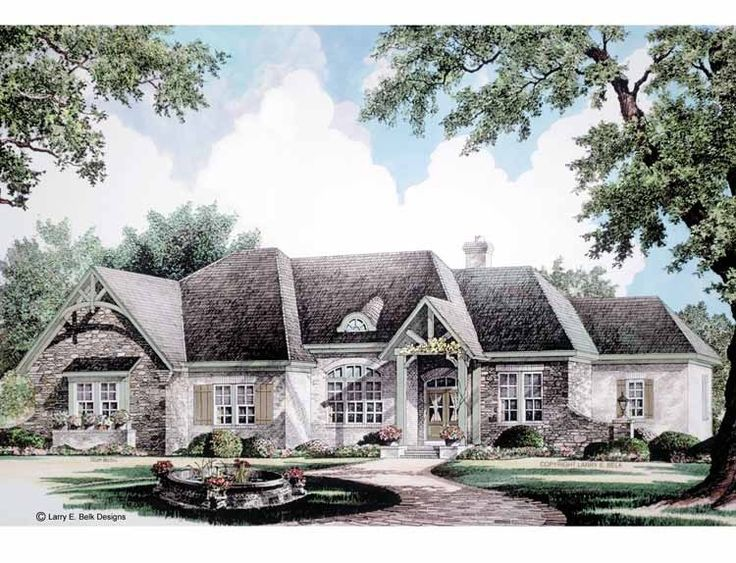 french country house plan with 2960 square feet and 4 bedroomss from dream - French Country Ranch House Plans