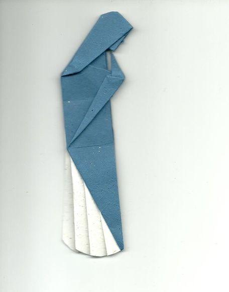Nossa Senhora em origami