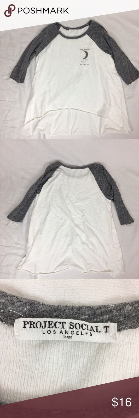 Project Social T Nordstrom Baseball Graphic Tee A hipster chic baseball graphic tee from Nordstrom. Brand is Project Social T. Size large. EUC with no flaws. Nordstrom Tops Tees - Long Sleeve