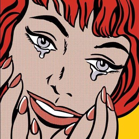 < 행복한 눈물 >, 로이 리히텐슈타인, 1964.여인이 어떠한 이유로 눈물을 흘리는 지 생각하는 것은 관객의 몫이다. 그래서 더 흥미로운 그림같다. 다양하게 감정이입이 가능하기 때문이다. 어쩌면 프로포즈를 받은 것이 아닐까 싶어서 주제의 그림으로 선정해보았다.