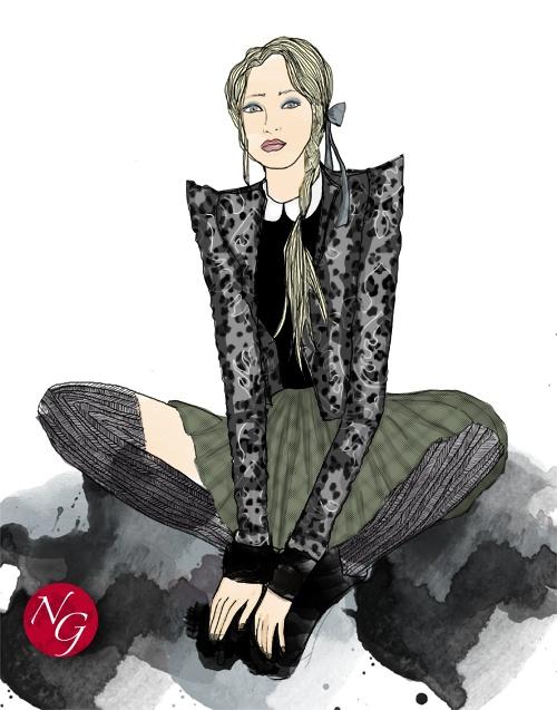Quiet romantism  http://www.nefergarden.com/2013/01/20/quiet-romantism/ #romantism #leopard #fashion #illustration