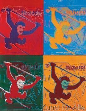 Andy Warhol - Four Monkeys, 1983