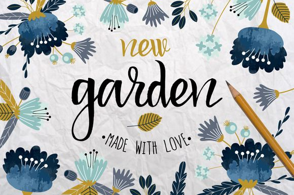 New Garden. Autumn floral collection by lokko studio on Creative Market