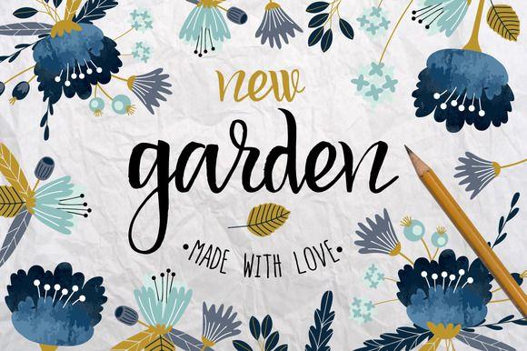 New Garden. Autumn floral collection by lokko studio on @creativemarket
