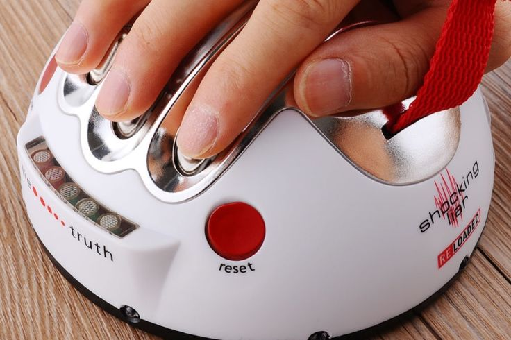 """Well this little lie detector will sure take the guesswork out of the game """"3 truths and a lie!"""" Or, if you want to know what your friends really think about your new haircut, whip out this lie detector at parties and get to work! No secret is safe."""
