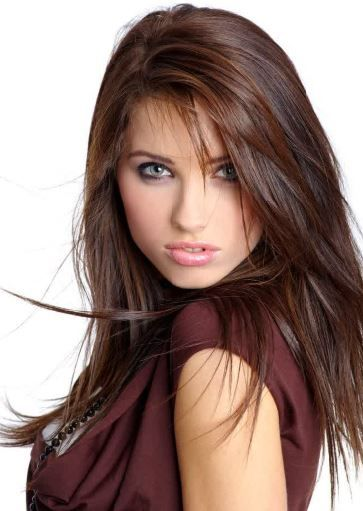 brunette hair color for cool skin tone women - Reddish Brown Hair Colors