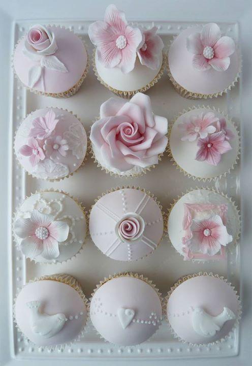 White & Pink Cupcakes