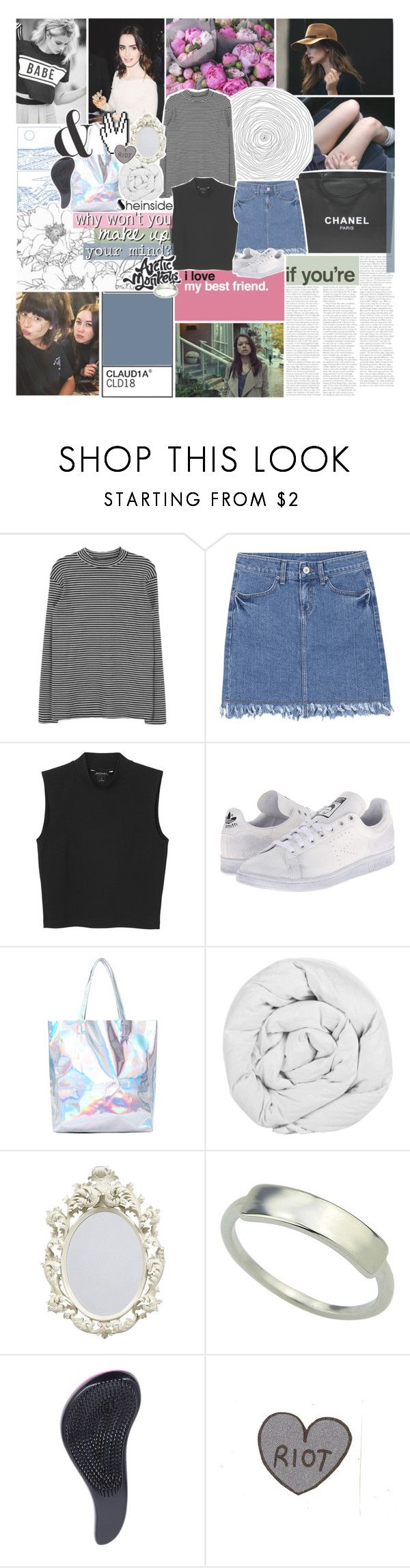 """""""hearing music from another time"""" by kristen-gregory-sexy-sports-babe ❤ liked on Polyvore featuring Chanel, Monki, adidas and The Fine Bedding Company"""