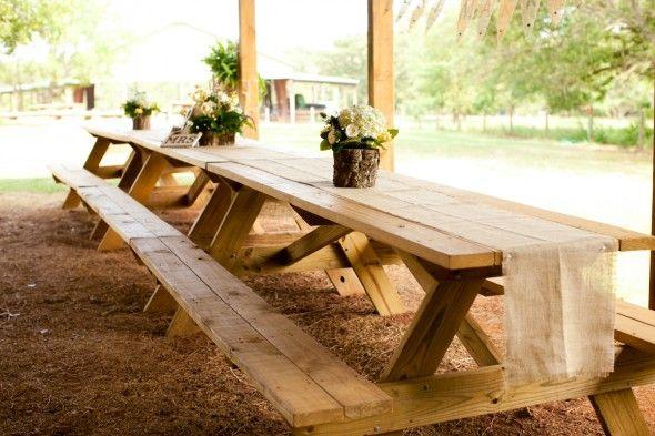 long picnic tables