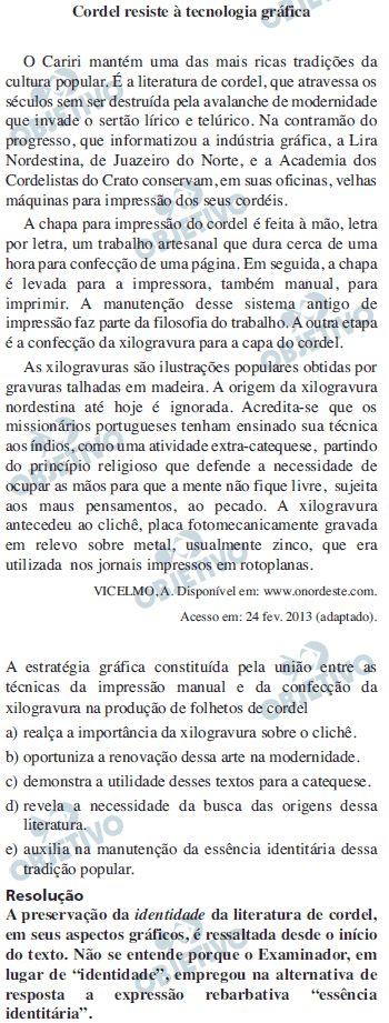 Enem 2014: Confira a correção das provas do Enem 2014 - Provas e Correções - UOL Vestibular