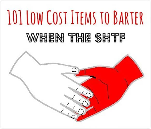 barter items, barter, trade and barter, shtf preparedness
