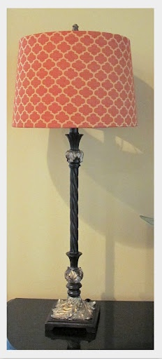 Tutorial for covering drum lamp shades with fabric