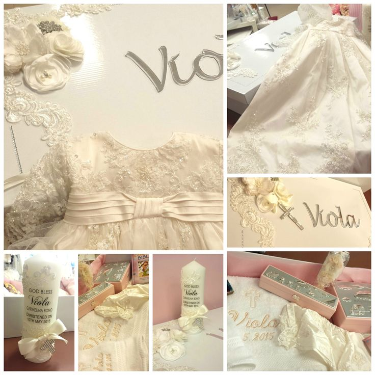 Christening package - lace gown, candle, box and accessories ... www.lilysattic.com.au