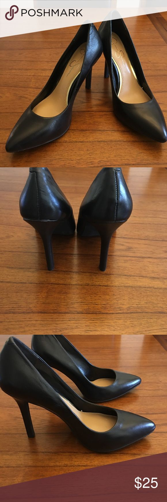 """Jessica Simpson Heels Size 7 Black Heels 4"""" heel height Jessica Simpson Shoes Heels"""