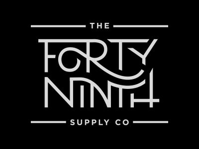 The Forty Ninth Supply Co by Nicolas Fredrickson. Love its vintage feel and ligatures.