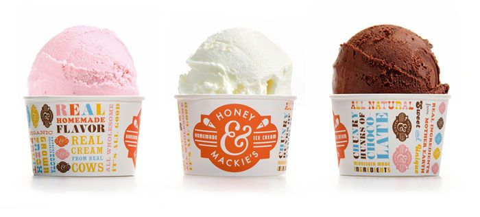 honey & mackie's ice cream shop branding and packaging by wink. http://wink-mpls.com/