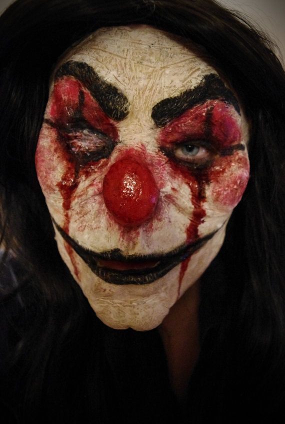 Evil Clown Halloween Mask by SometimesAliceFX on Etsy, $47.00